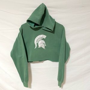 Michigan State crop hoodie